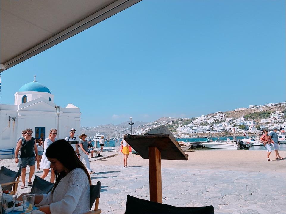 ミコノス お勧め 海 食事 ご飯 レストラン フリーワイファイ