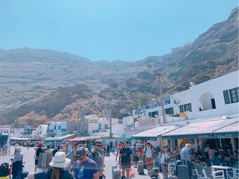 アディオス港 サントリーニ島