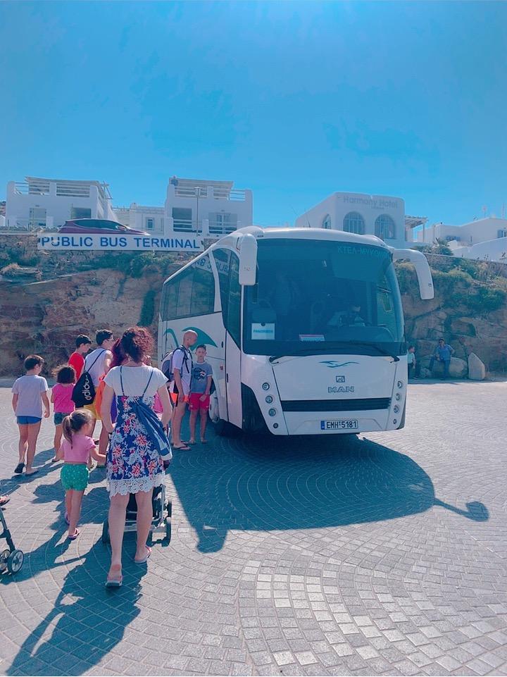 ミコノス島 ビーチ 行き方 バス ミコノスタウン