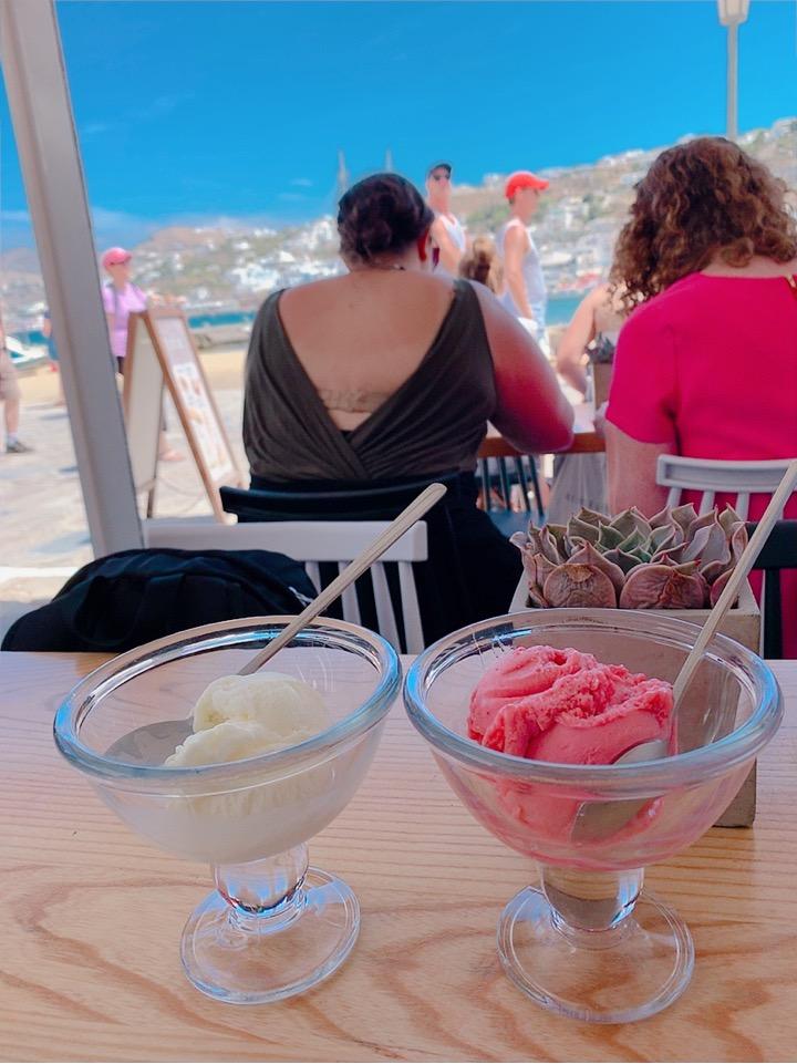 ミコノス島 お勧め 休憩 デザート レストラン