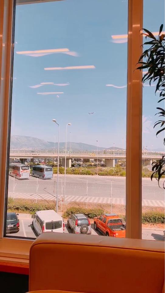 アテネ 国際空港 国内線 ラウンジ 景色