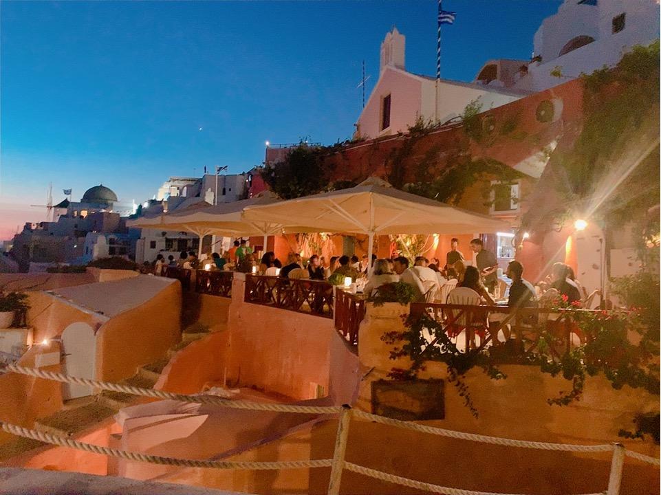レストラン Kastro サントリーニ島 おすすめ レストラン ご飯 食事