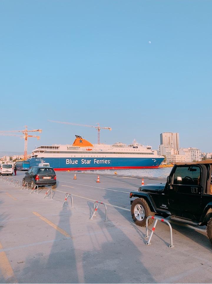 ブルースターフェリーズ ピレウス港 到着