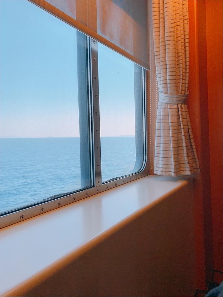 ブルースターフェリーズ 船 フェリー 移動 座席 景色