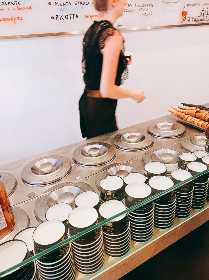 アテネ カフェ お勧め アイス ジェラート