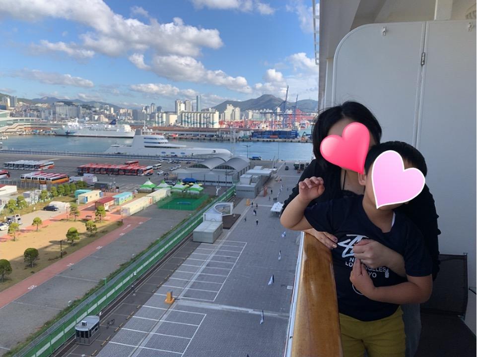MSC MSCスプレンディダ 釜山 下船までの待ち時間
