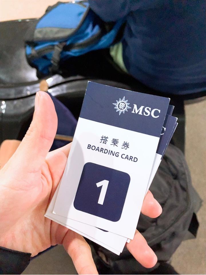 MSC 横浜港 大桟橋ふ頭 大黒ふ頭 シャトルバス 搭乗券