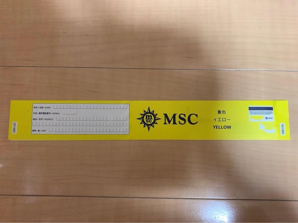 MSC MSCスプレンディダ 釜山 下船 タグ