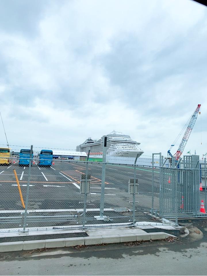 MSCスプレンディダ 大さん橋ふ頭 大黒ふ頭 シャトルバス