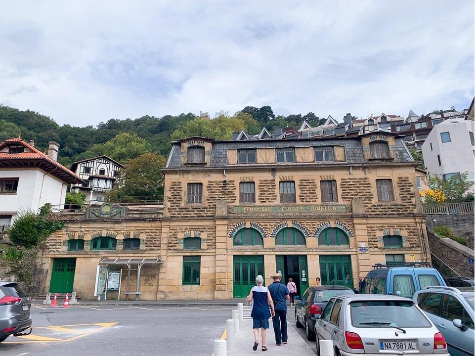 サンセバスティアン 観光 スペイン ケーブルカー monte lgueldo 入口