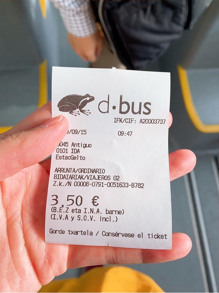 サンセバスティアン 観光 スペイン ケーブルカー monte lgueldo 行き方 バス 移動 値段