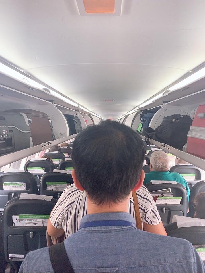 TAP ポルトガル航空 フェズ モロッコ リスボン スペイン ビルバオ 機内 機材