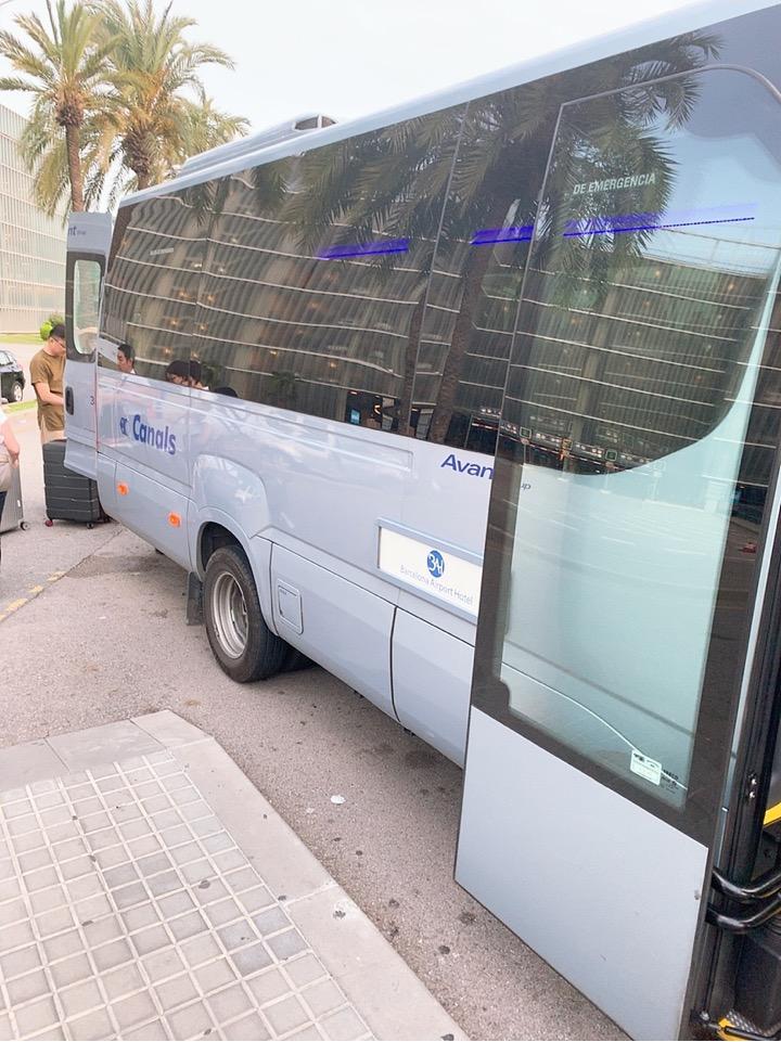 スペイン バルセロナ 空港 周辺 バス停 BAH バスセロナエアポートホテル