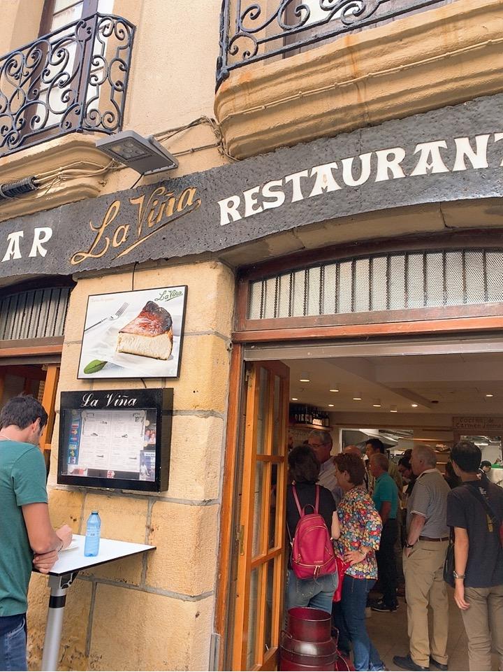 サンセバスティアン バル バル巡り 旧市街 la vina 立ち飲み チーズケーキ