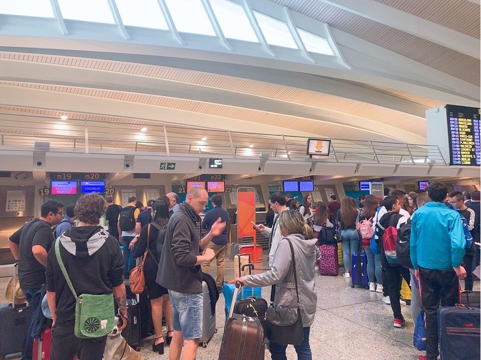 TAP ポルトガル航空 スペイン ビルバオ 空港 チェックイン カウンター