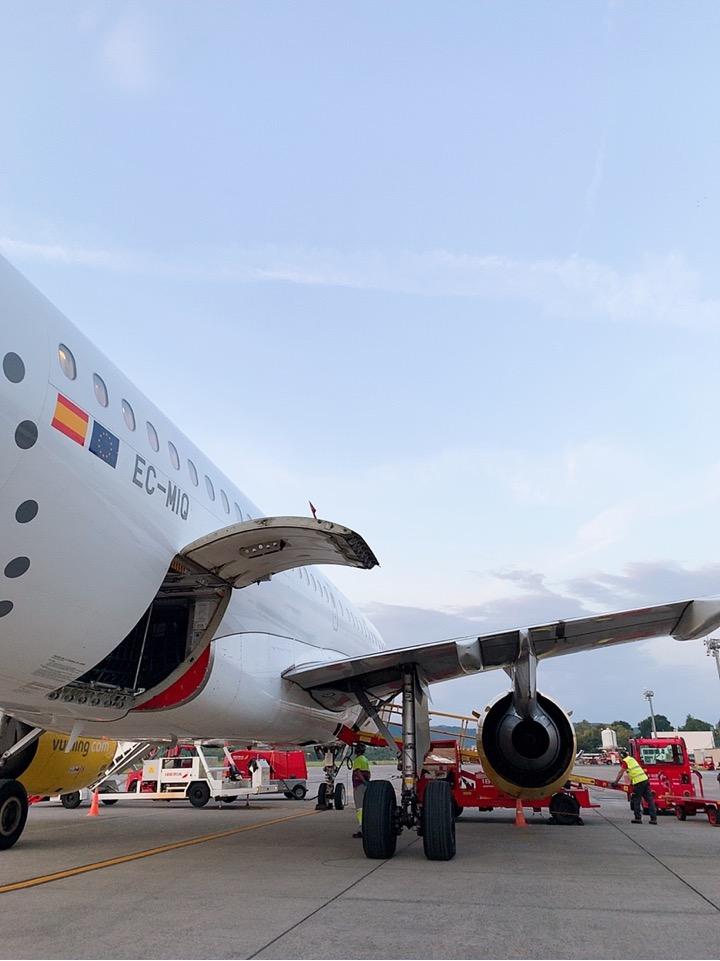 スペイン ブエリング航空 Vueling Airlines サンセバスティアン 空港