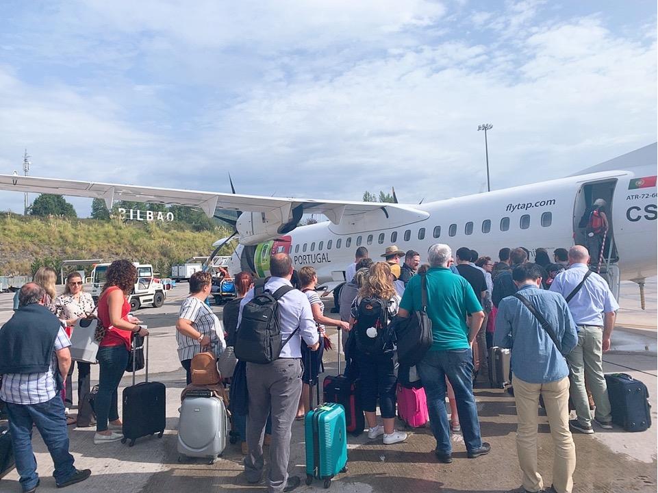 TAP ポルトガル航空 フェズ モロッコ リスボン スペイン ビルバオ 搭乗