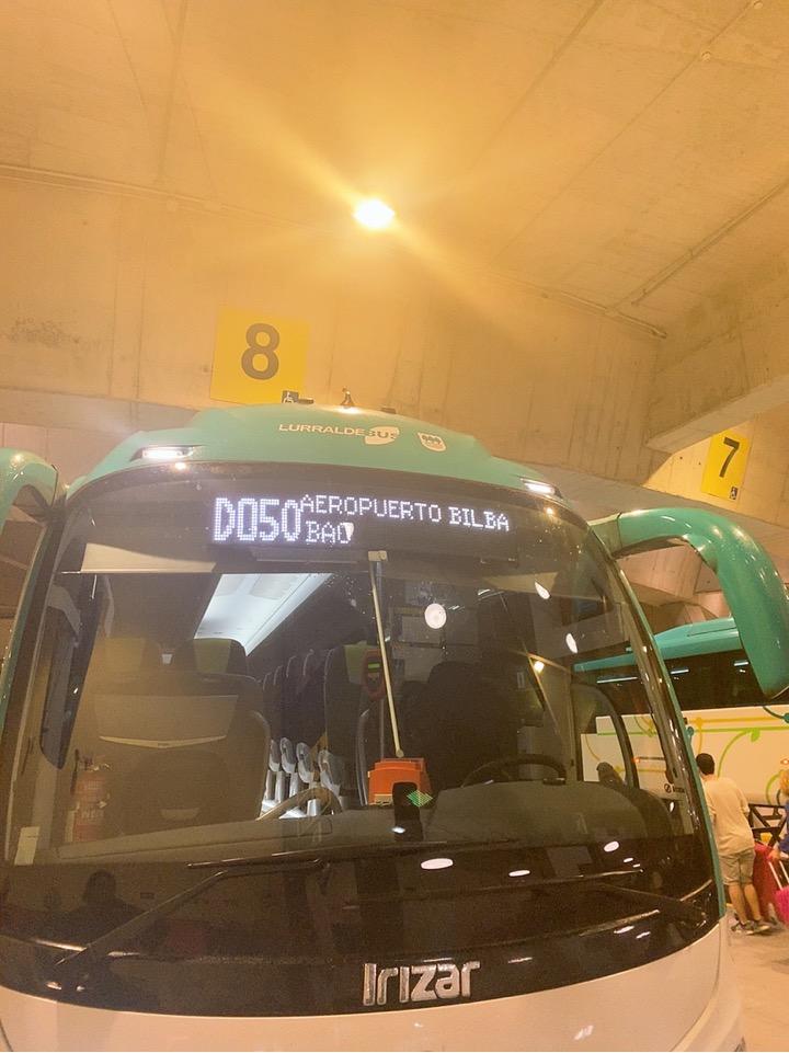 サンセバスティアン ビルバオ空港 行き方 バス バス乗り場 ドノスティア駅 バス