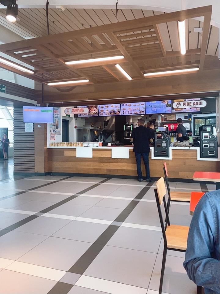 TAP ポルトガル航空 スペイン ビルバオ レストラン バーガーキング