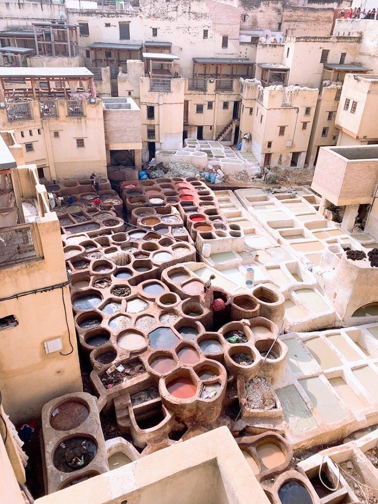 フェズ 旧市街 観光 案内 タンネリ なめし革工場