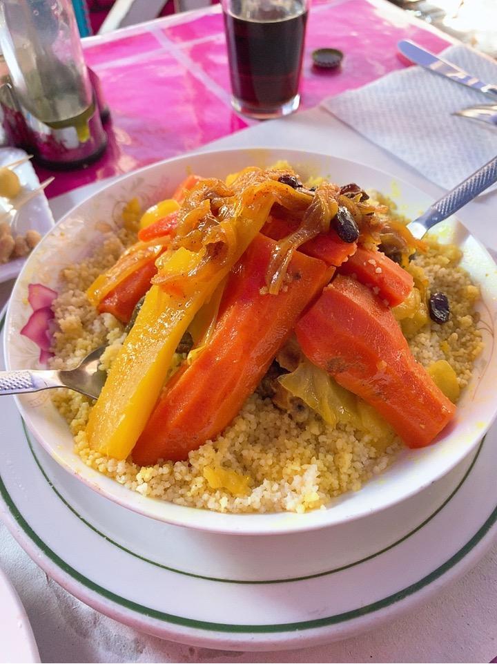 モロッコ シャウエン レストラン ランチ クスクス モロッコ料理