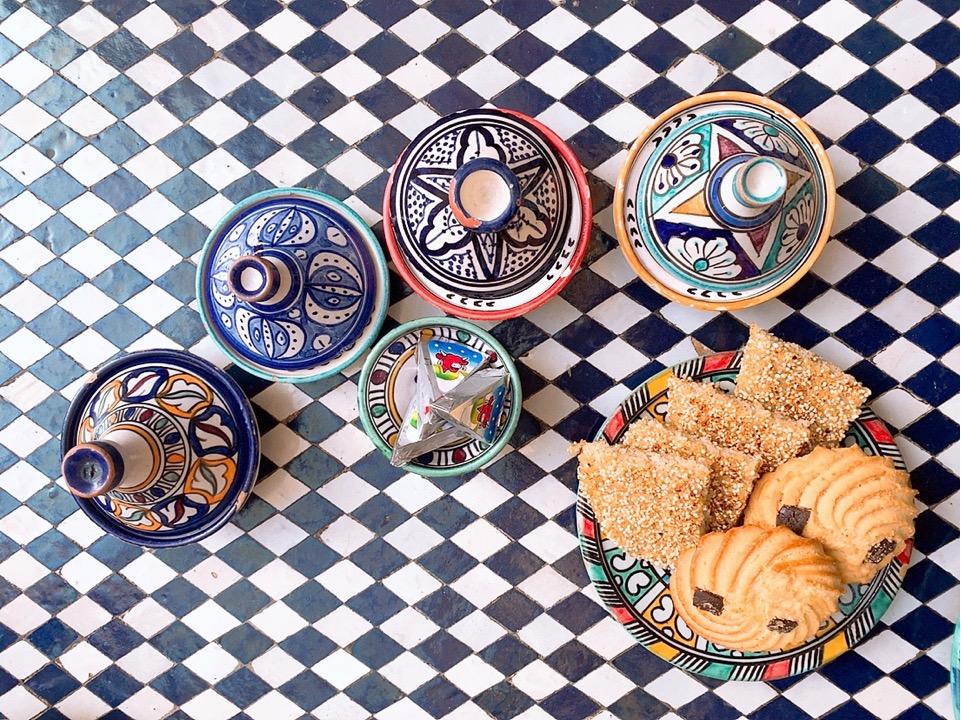 モロッコ フェズ リヤド 宿泊 ホテル 朝食 ブレックファースト