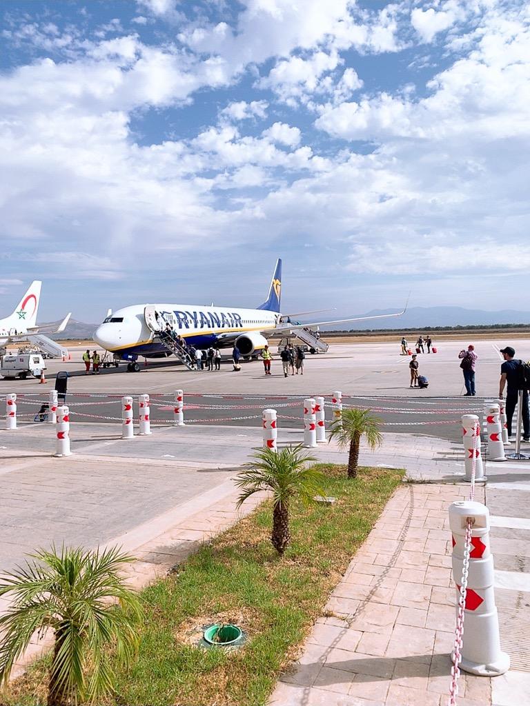 モロッコ フェズ 空港 ライアンエア ryanair 搭乗ボーディング boarding ライアンエアー