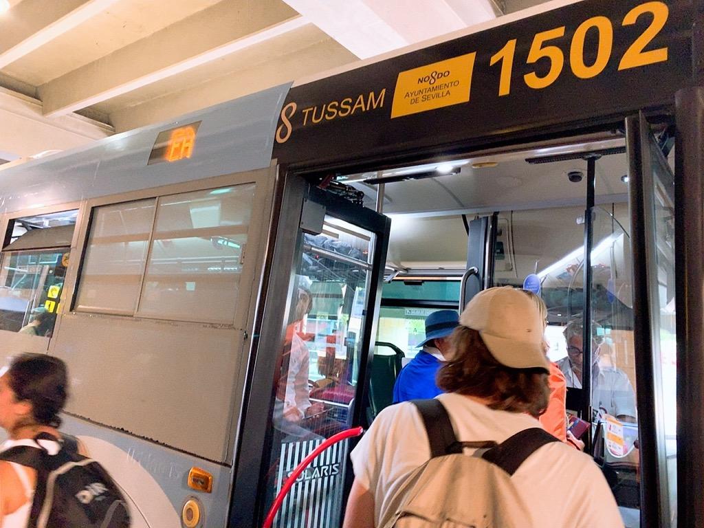バス スペイン セビリア 空港 市内 プラサ・デ・アルマスバスターミナル