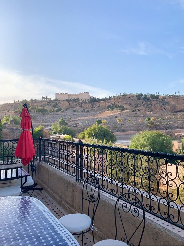 モロッコ フェズ リヤド 宿泊 景色 ベランダ