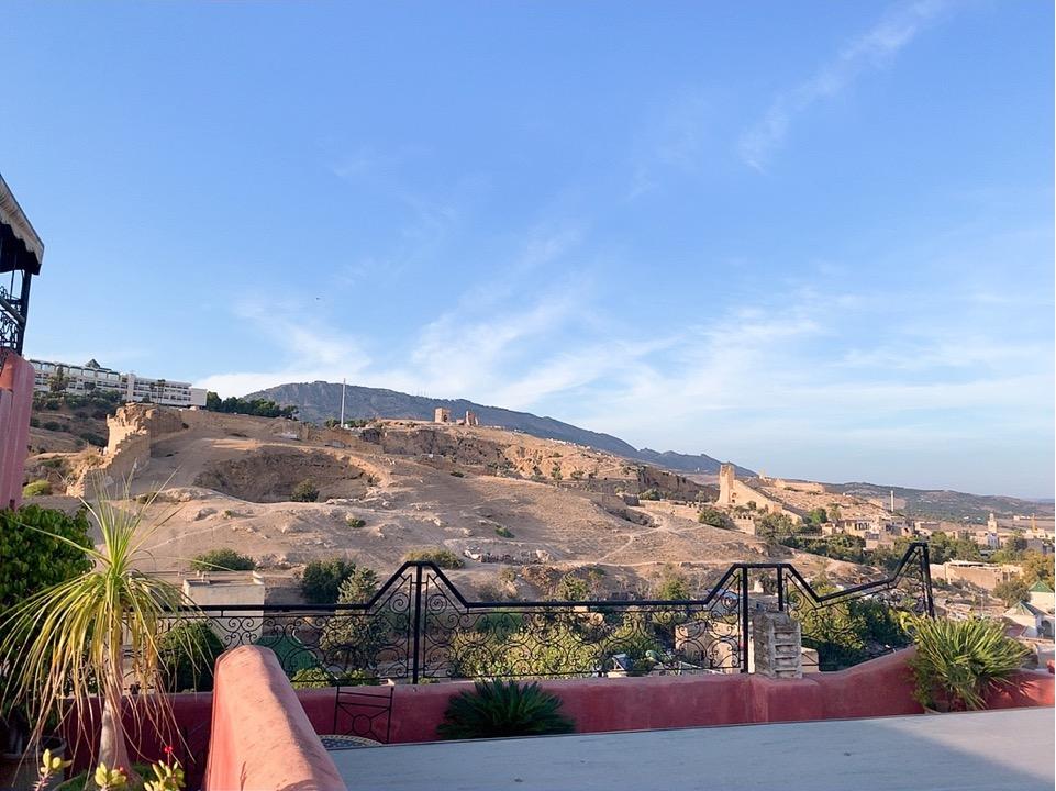 モロッコ フェズ リヤド 宿泊 屋上 景色