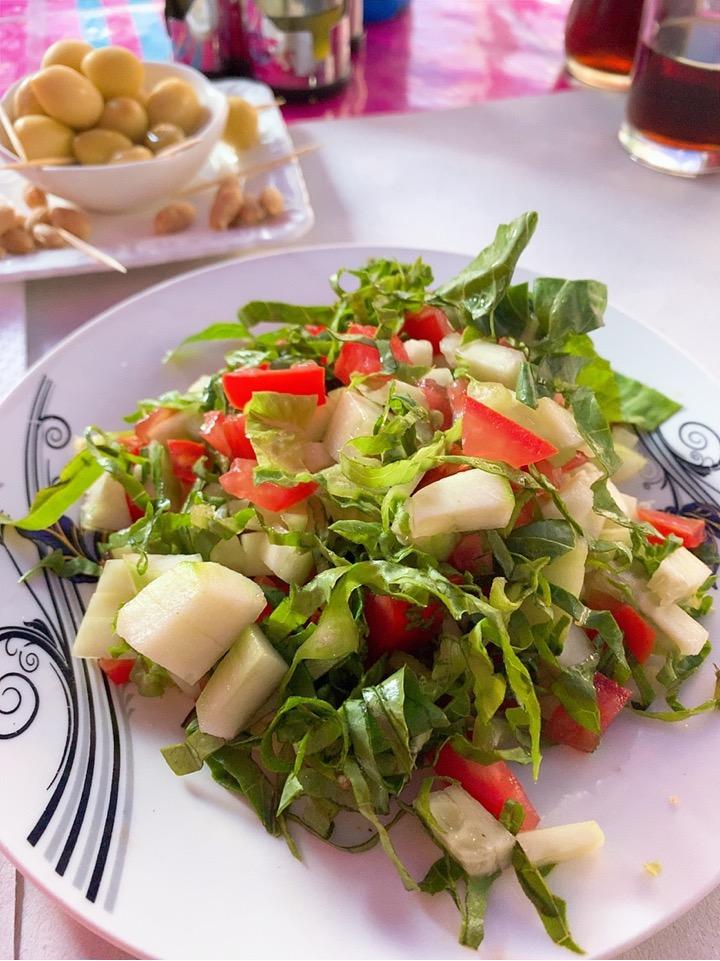 モロッコ シャウエン レストラン モロッコサラダ