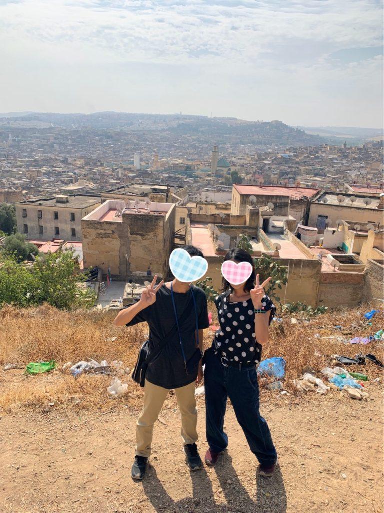 Tombe dei Merenidi 丘 景色 モロッコ フェズ