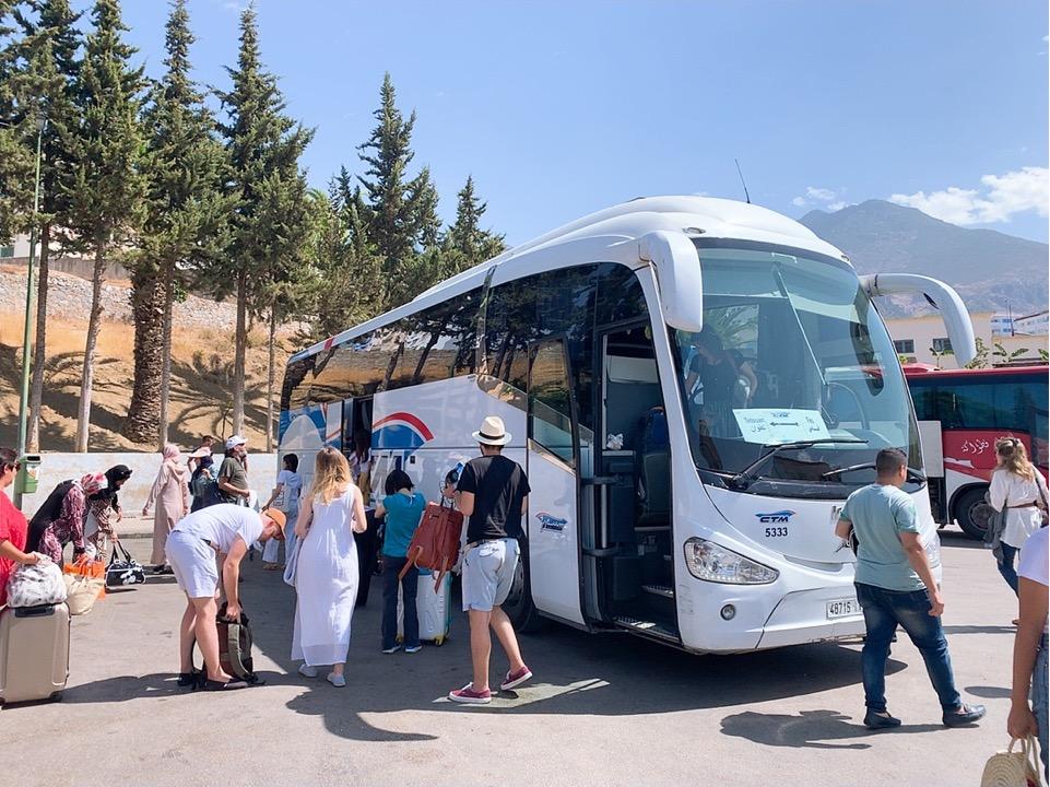 モロッコ フェズ シャウエン CTM バス 到着