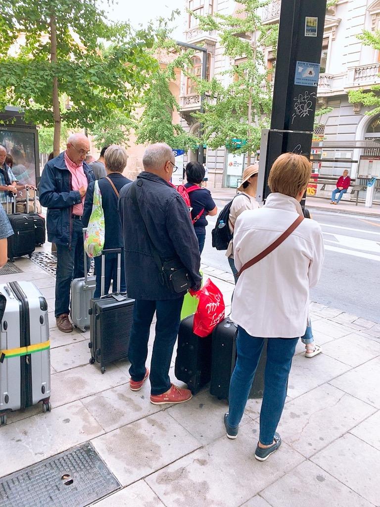 グラナダ エアポートバス 空港 バス 移動 バス停