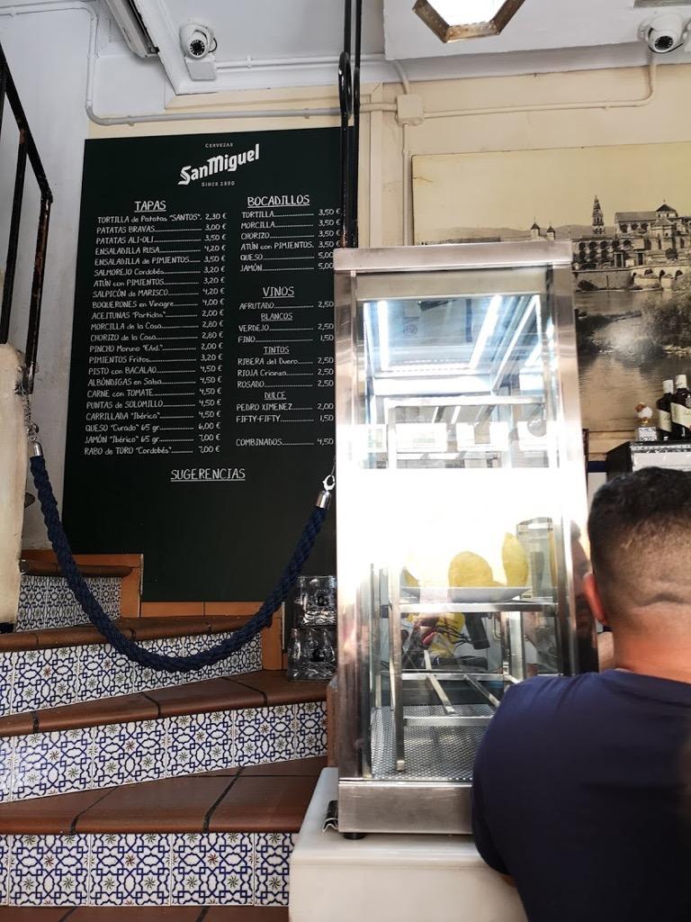 トルティージャ バーサントス bar santos メニュー