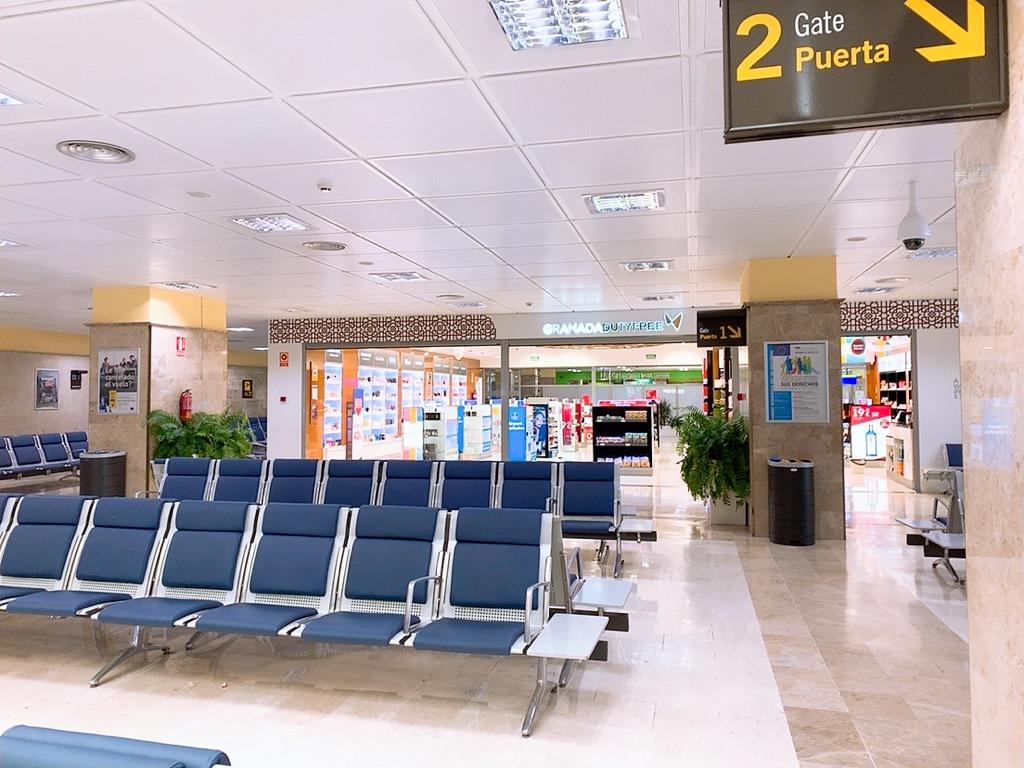 グラナダ 空港 制限区域 制限エリア 売店