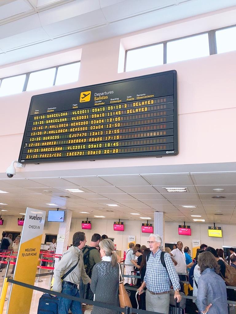 グラナダ 空港 ストライキ 遅延 LCC vueling ブエリング 航空