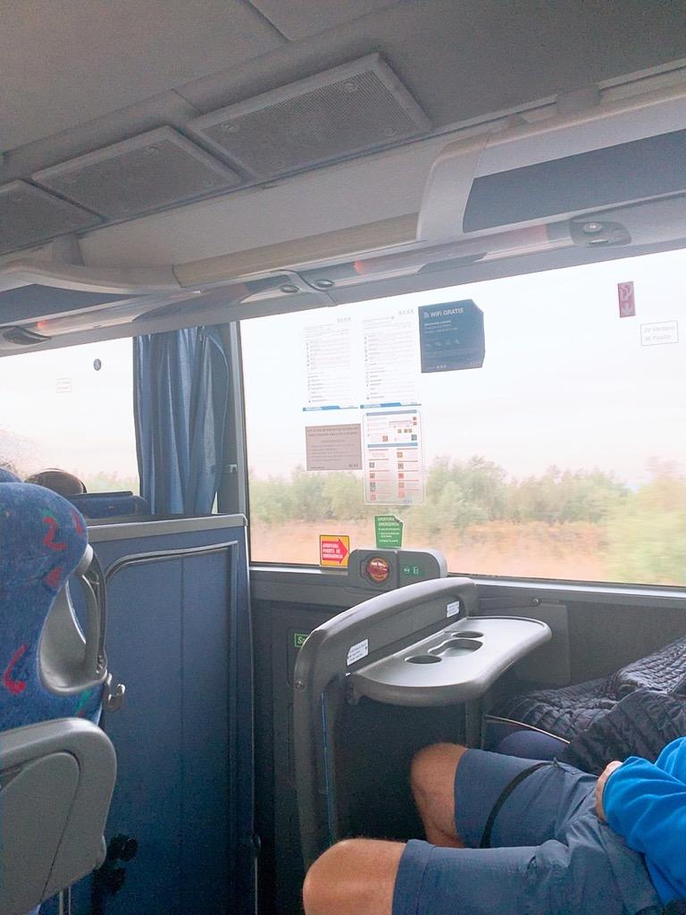 コルドバ グラナダ バス 車内 トイレ