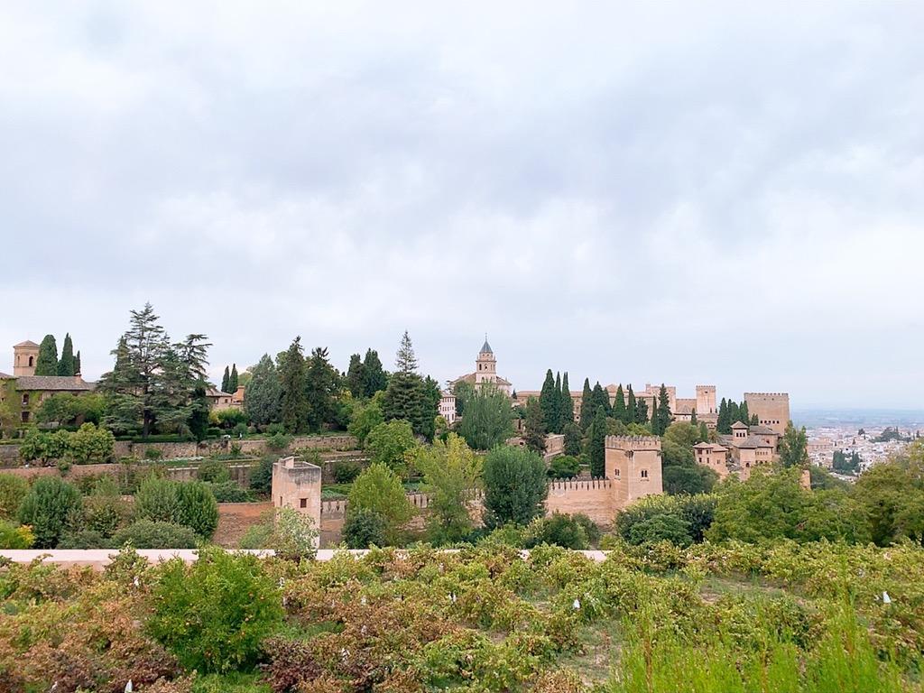 アルハンブラ宮殿 庭園 景色