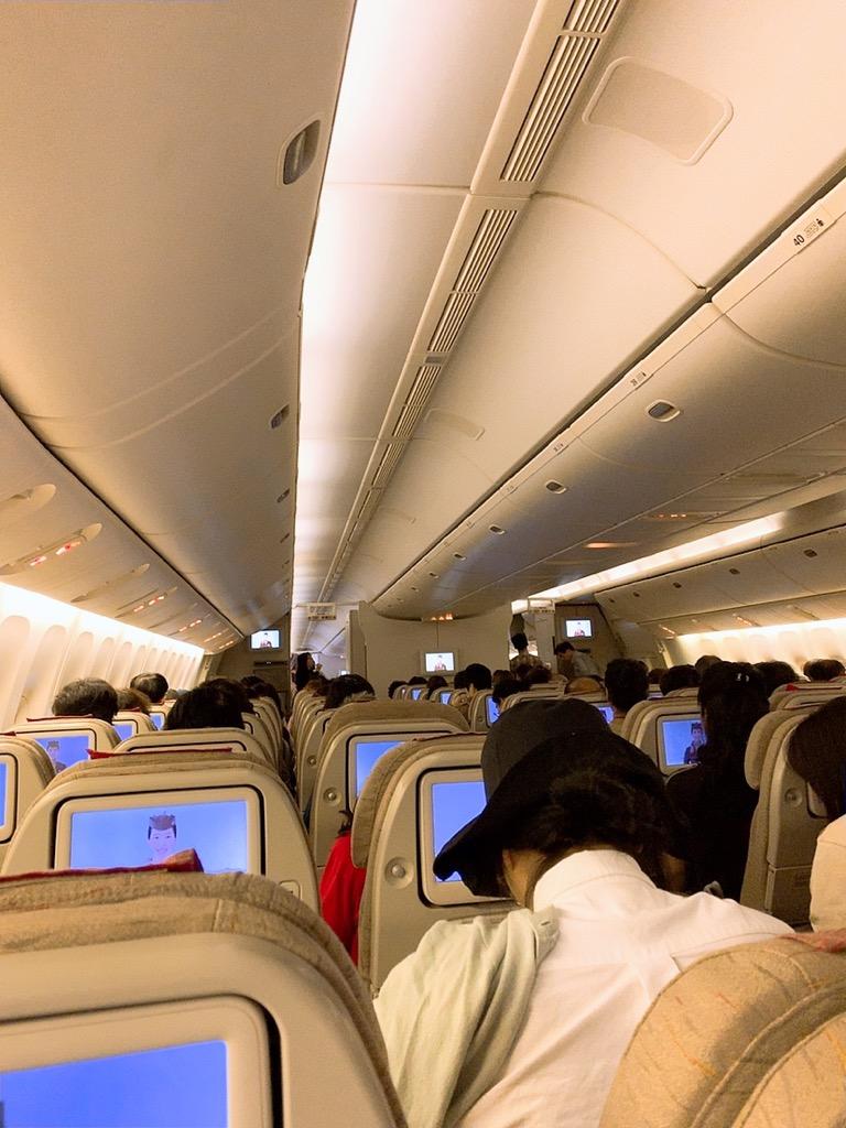 バルセロナ 仁川 機内 アシアナ アシアナ航空 アシアナエアライン
