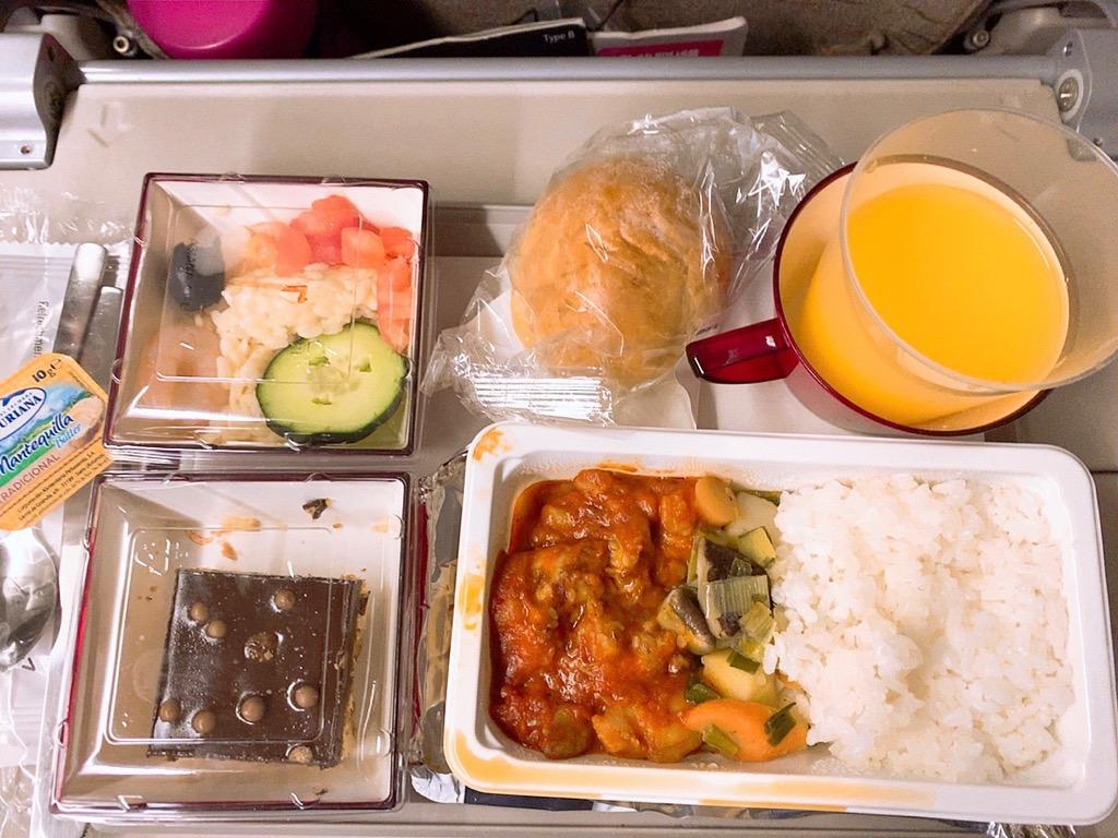 バルセロナ 仁川 機内食 朝食 アシアナ アシアナ航空 アシアナエアライン