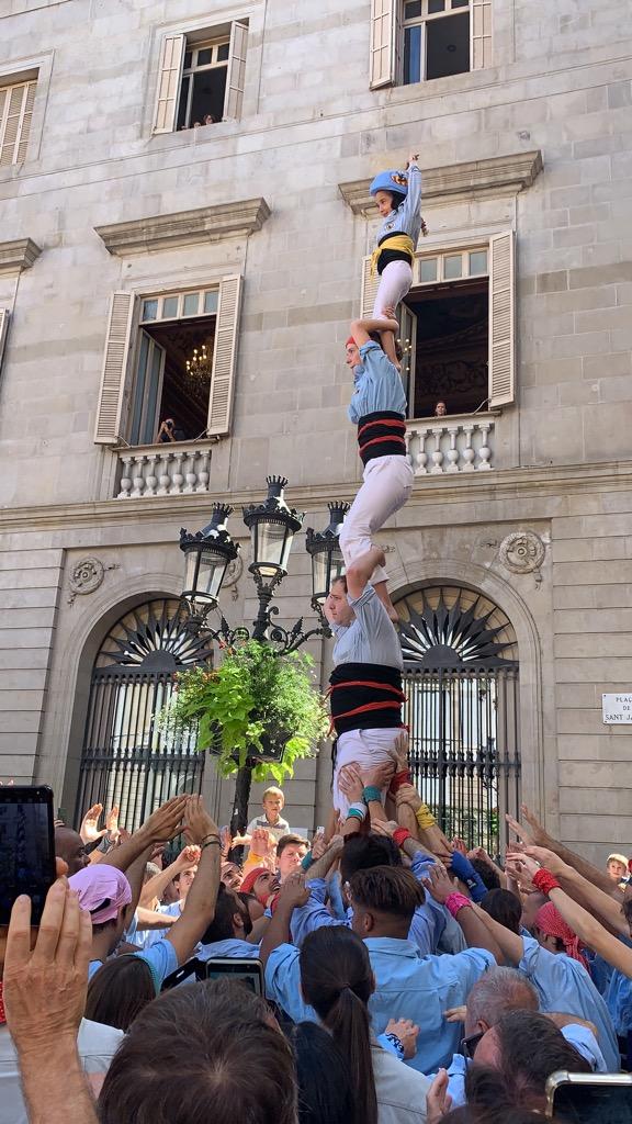 スペイン バルセロナ メルセ祭り 人間の塔 タワー Castells