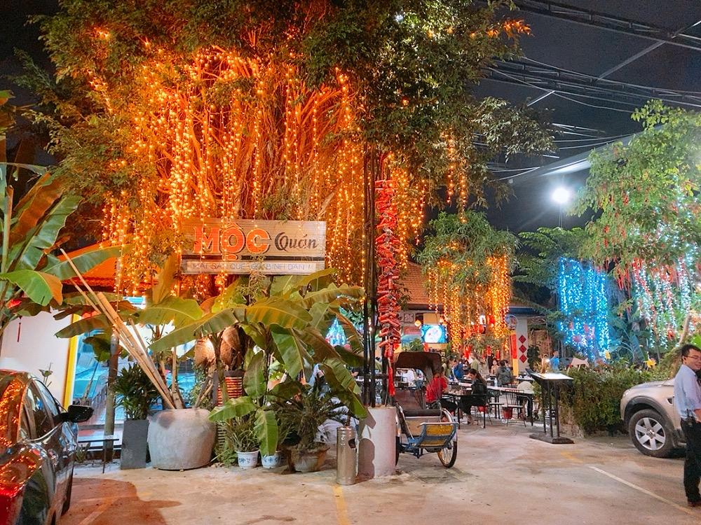 ベトナム ダナン 食事 シーフード レストラン ディナー 晩御飯 外 安い 屋外 ルーフトップ
