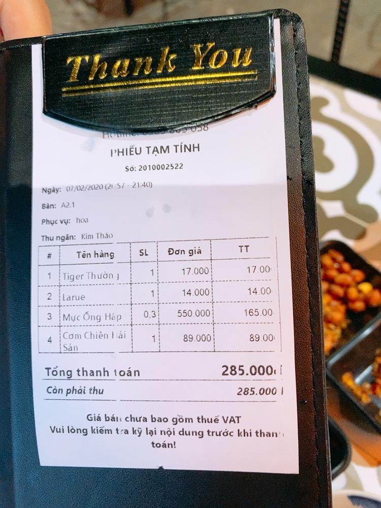 ご飯 おすすめ 安い ベトナム ダナン 食事 シーフード レストラン ディナー 晩御飯