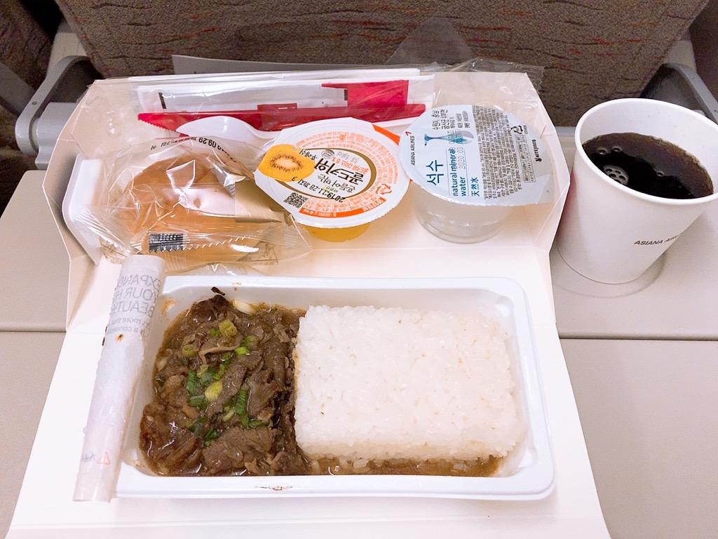 仁川 成田 機内食 アシアナ航空 アシアナ アシアナエアライン