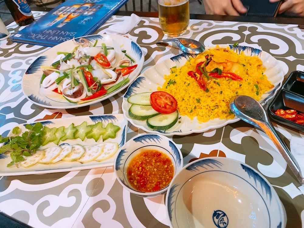 おすすめ ベトナム ダナン 食事 シーフード レストラン ディナー 晩御飯