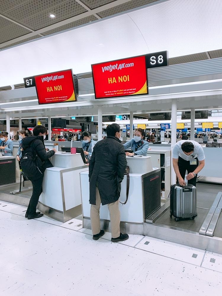 成田 べトジェット チェックイン 検査 重量検査