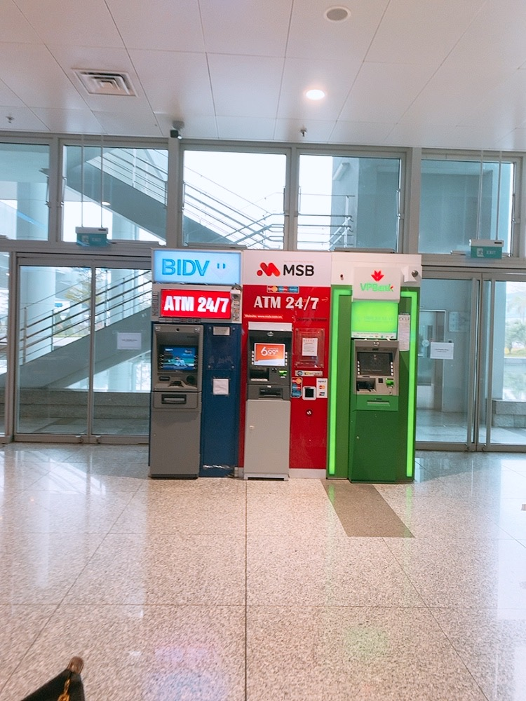 ハノイ 空港 国際線 ATM 場所