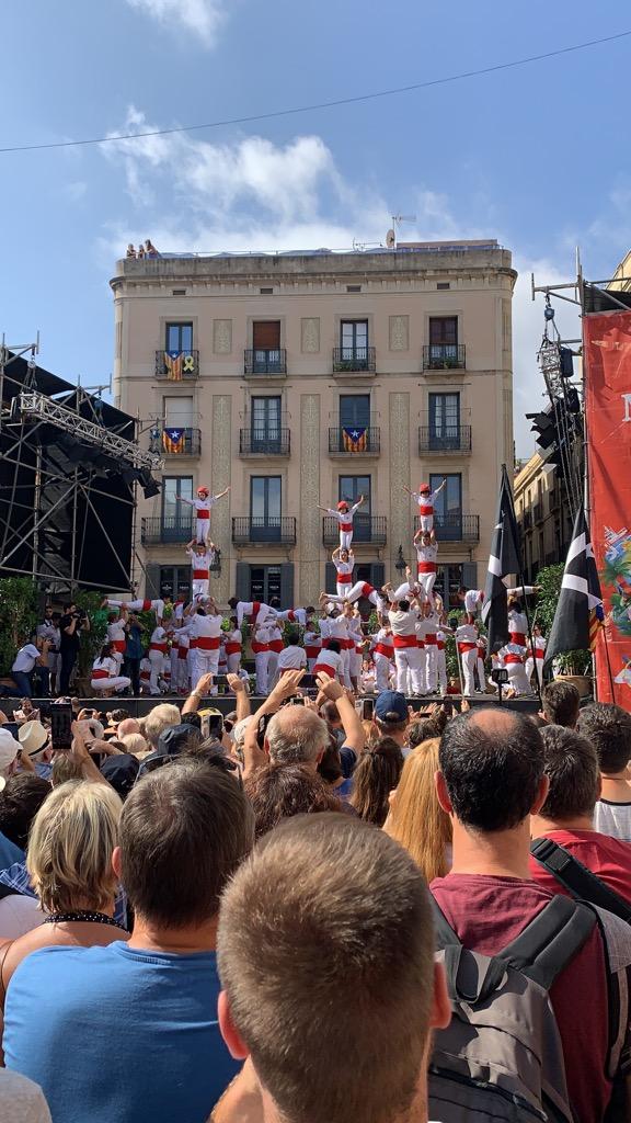 Plaça de Sant Jaume サンジャウマ広場 組体操 人間の塔