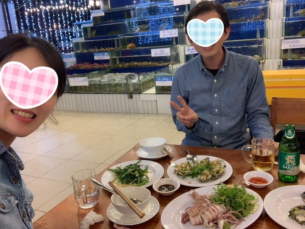 ダナン 食事 シーフード レストラン 魚